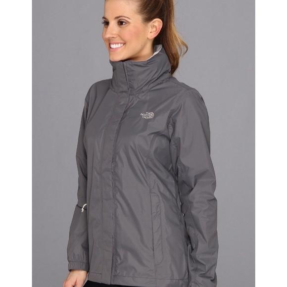 North Face Resolve Gray Jacket Raincoat Small